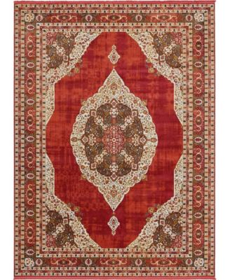 Kenna Ken1 Red 10' x 13' Area Rug