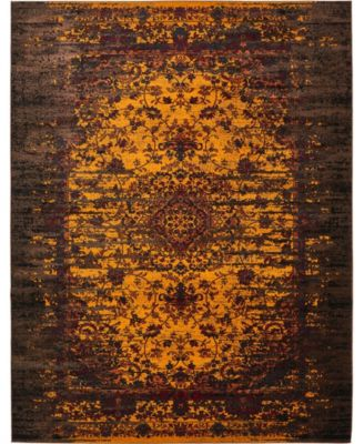 Linport Lin4 Orange 5' x 8' Area Rug