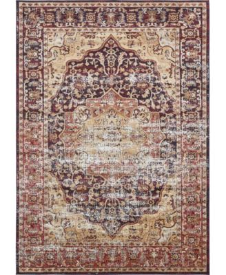 Ananta Ana4 Rust Red 8' x 8' Round Area Rug