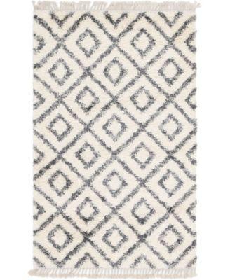 Lochcort Shag Loc2 Ivory 8' x 8' Square Area Rug