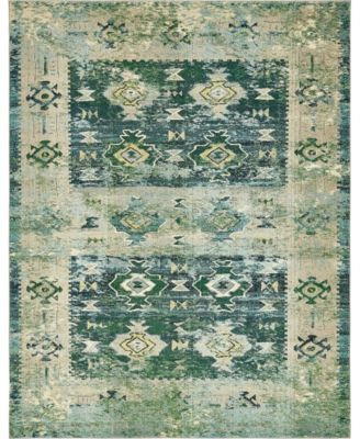 Newhedge Nhg3 Green 5' x 8' Area Rug