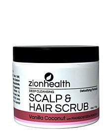Zion Health Hair Scrub, Vanilla Coconut Scent, 4 oz