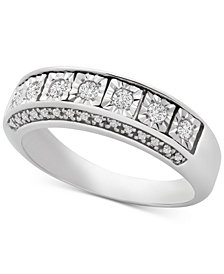 Diamond Seven-Stone Band (1/4 ct. t.w.) in Sterling Silver