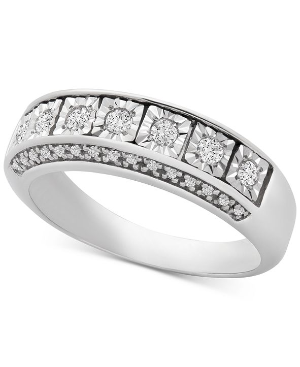 Macy's Diamond Seven-Stone Band (1/4 ct. t.w.) in Sterling Silver
