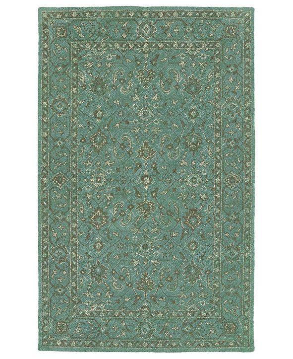 Kaleen Weathered WTR05-78 Turquoise 8' x 10' Area Rug