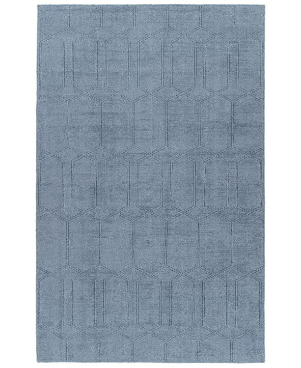 "Kaleen Minkah MKH03-17 Blue 7'6"" x 9' Area Rug"