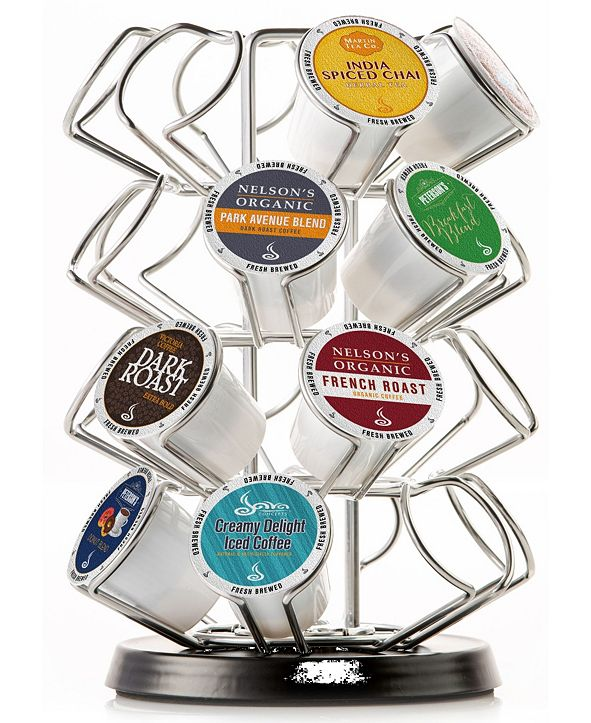 Java Concepts Steel Carousel for Keurig Coffee K-Cups