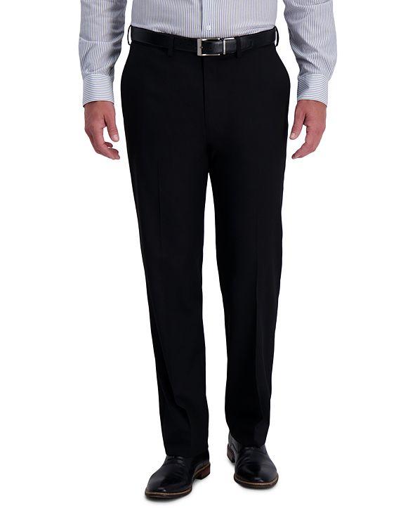 Haggar J.M. Men's Classic-Fit Stretch Heather Diamond Dress Pants