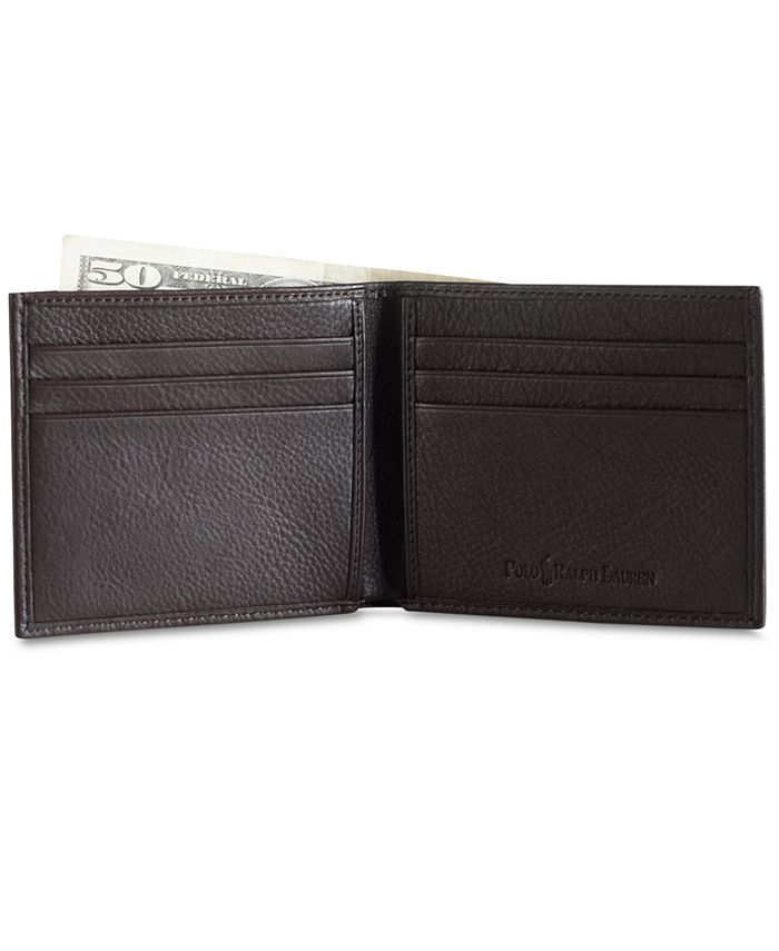 Polo Ralph Lauren - Accessories, Pebbled Leather Billfold Wallet
