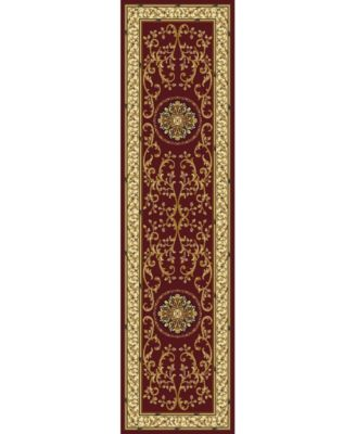 "CLOSEOUT! 1419/1334/BURGUNDY Navelli Red 2'2"" x 8' Runner Rug"