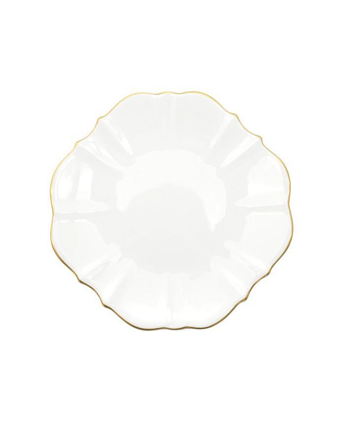 """Twig New York - Amelie Brushed Gold Rim 8.5"""" Salad Plate"""