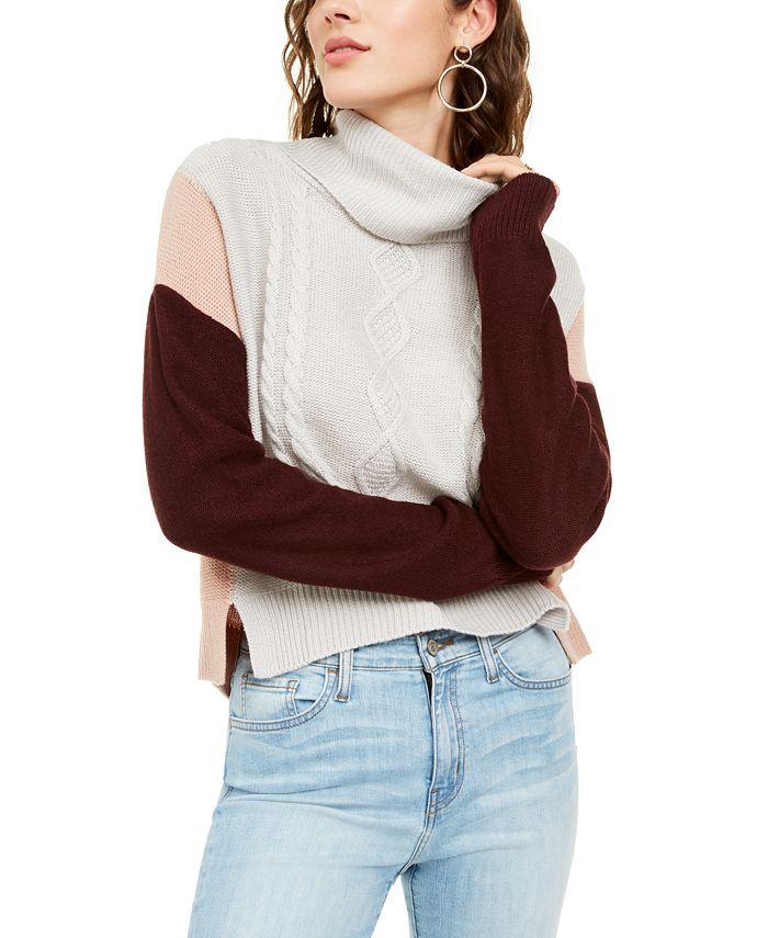 BCX - Juniors' Colorblocked Knit Sweater