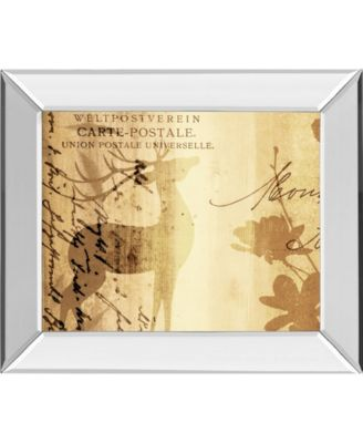"""Letter I by F. Leal Mirror Framed Print Wall Art - 22"""" x 26"""""""