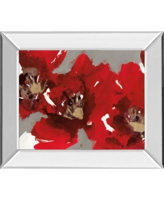 """Red Poppy Forest I by N. Barnes Mirror Framed Print Wall Art - 22"""" x 26"""""""