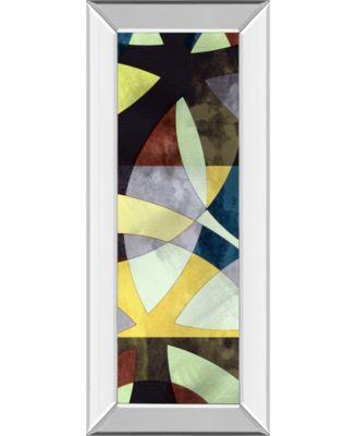 "Elliptic Path I by James Burghardt Mirror Framed Print Wall Art - 18"" x 42"""