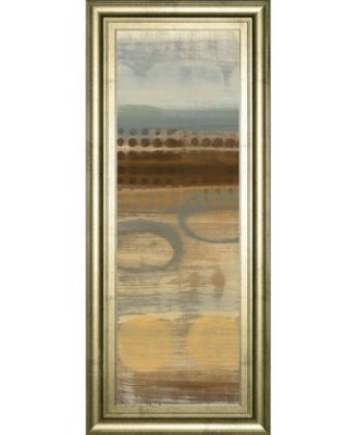 "Movement Panel I by Jeni Lee Framed Print Wall Art - 18"" x 42"""