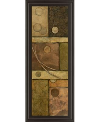 """Circle Game Il by Norm Olson Framed Print Wall Art - 18"""" x 42"""""""