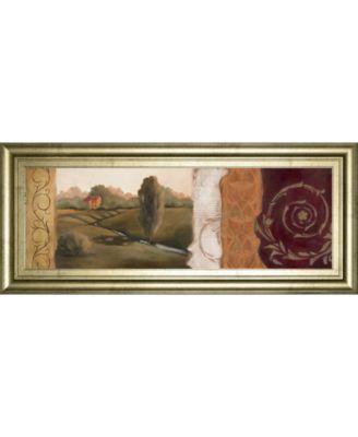 """Tuscan Scene Il Framed Print Wall Art - 18"""" x 42"""""""