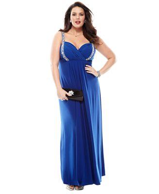 Macys Plus Size Womens Formal Wear Purple Graduation Dresses