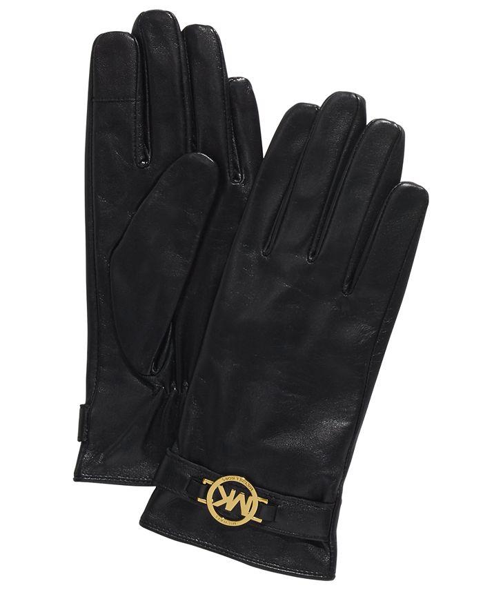 Michael Kors - Leather Ornament Gloves