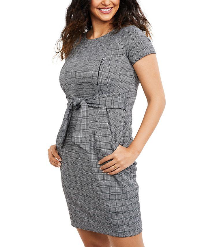 A Pea in the Pod - Maternity Jacquard Nursing Dress
