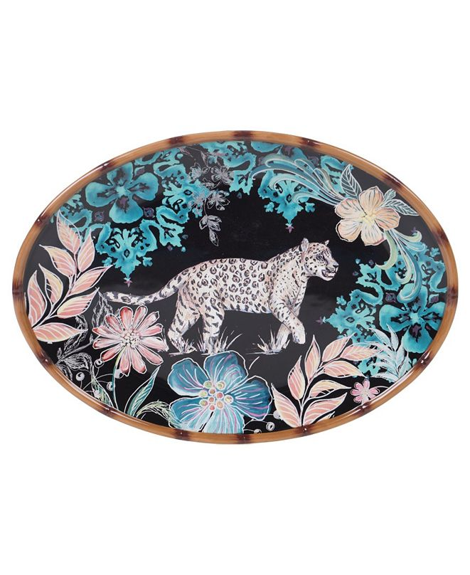 Certified International Exotic Jungle Oval Platter