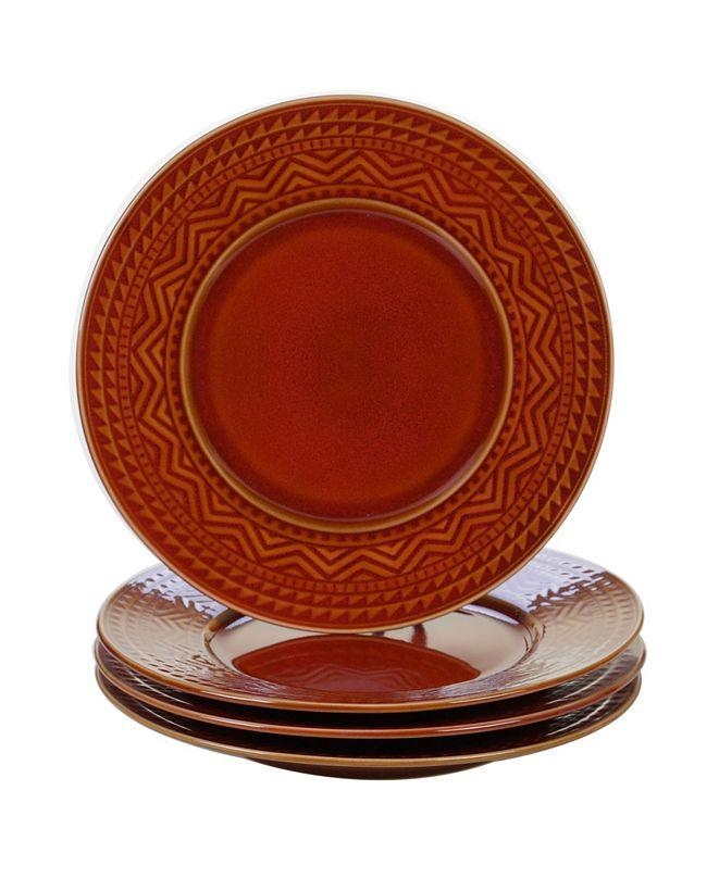 Certified International Aztec Rust 4-Pc. Dinner Plates