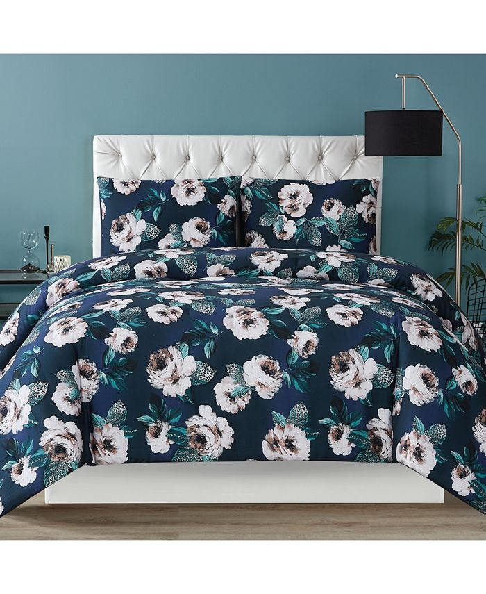 Christian Siriano New York - Mags Floral Full/Queen Duvet Set