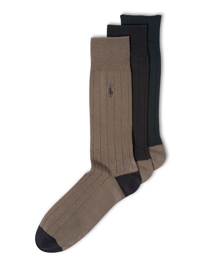 Polo Ralph Lauren - Socks, Soft Touch Ribbed Heel Toe 3 Pack