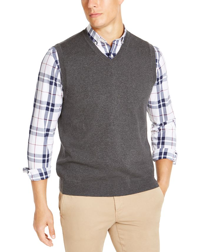 Club Room - Men's Regular-Fit V-Neck Sweater Vest