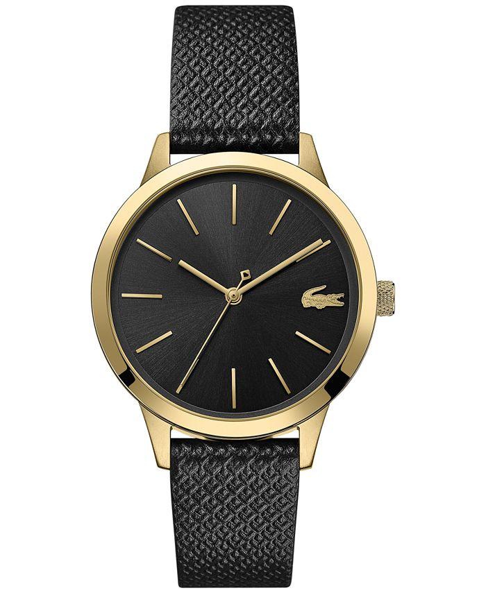Lacoste - Women's 12.12 Black Leather Strap Watch 36mm