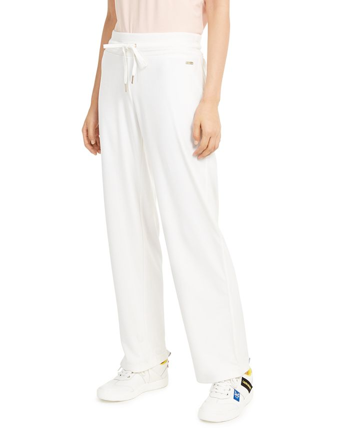 Calvin Klein - Velour Wide-Leg Pants