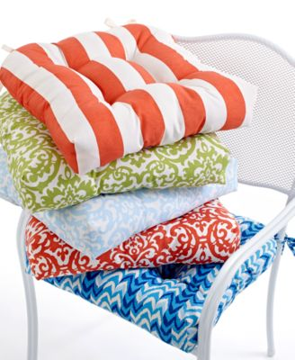"Waverly Outdoor Seat Cushions, Set of 2 Luna 19"" x 19"""
