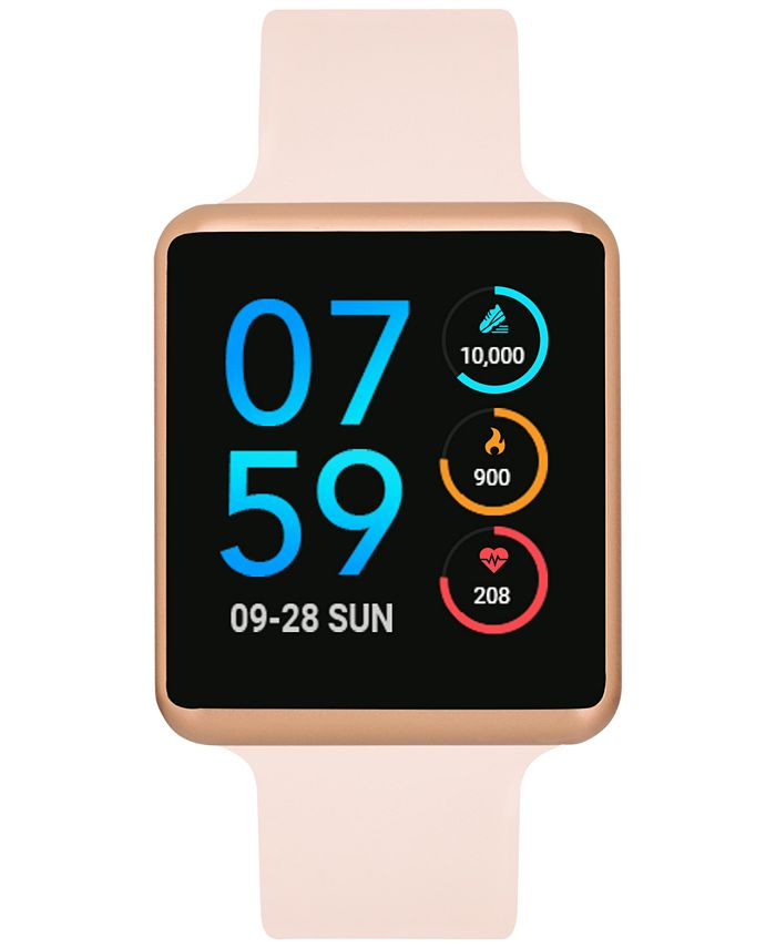 iTouch - Unisex Air Blush Silicone Strap Touchscreen Smart Watch 35x41mm