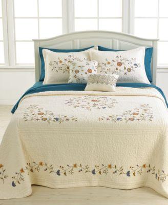 closeout nostalgia home bedding delphine bedspreads quilts bedspreads bed bath macy 39 s. Black Bedroom Furniture Sets. Home Design Ideas