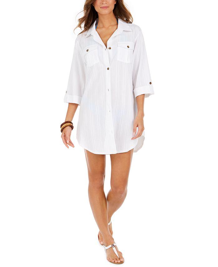 Dotti - Travel Muse Cotton Shirtdress Cover-Up