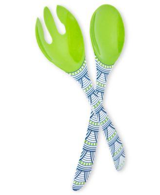 Jonathan Adler Serveware, Scales Melamine Salad Servers - Casual ...