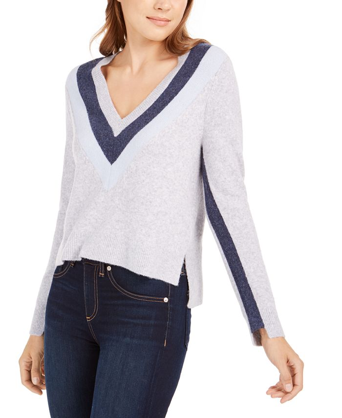 Calvin Klein Jeans - V-Neck Chevron Sweater