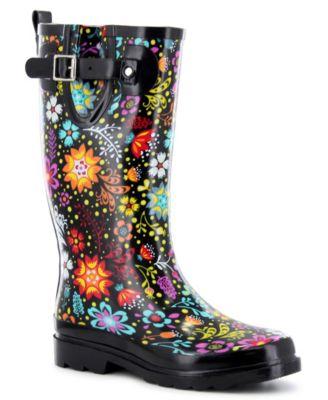 Regular Printed Tall Rubber Rain Boots