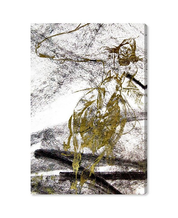 """Oliver Gal Wild Chase Canvas Art, 24"""" x 36"""""""