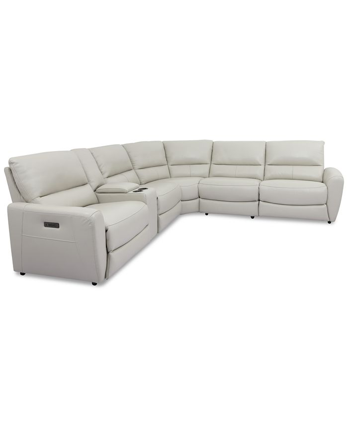 6 Pc Leather Sectional Sofa, Leather Sectional Furniture