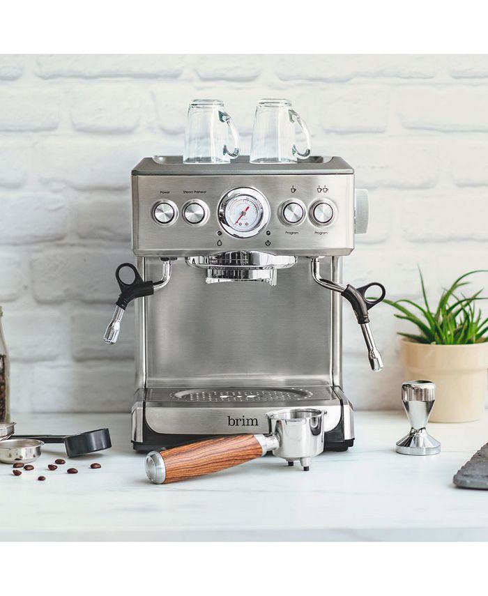 Brim - 19 Bar Espresso Maker with Wood Finish Handle