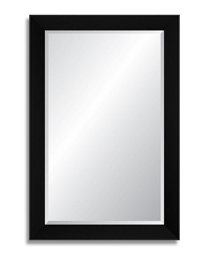 Reveal Frame & Décor - Midnight Black Beveled Wall Mirror