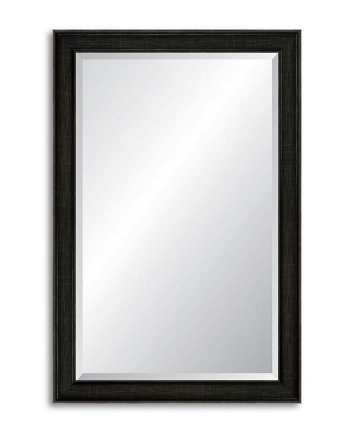 Reveal Frame & Décor - Modern Darkened Pewter Beveled Wall Mirror