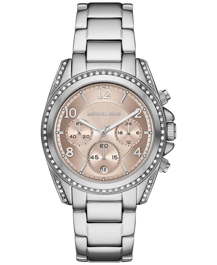 Michael Kors - Women's Chronograph Blair Stainless Steel Bracelet Watch 39mm