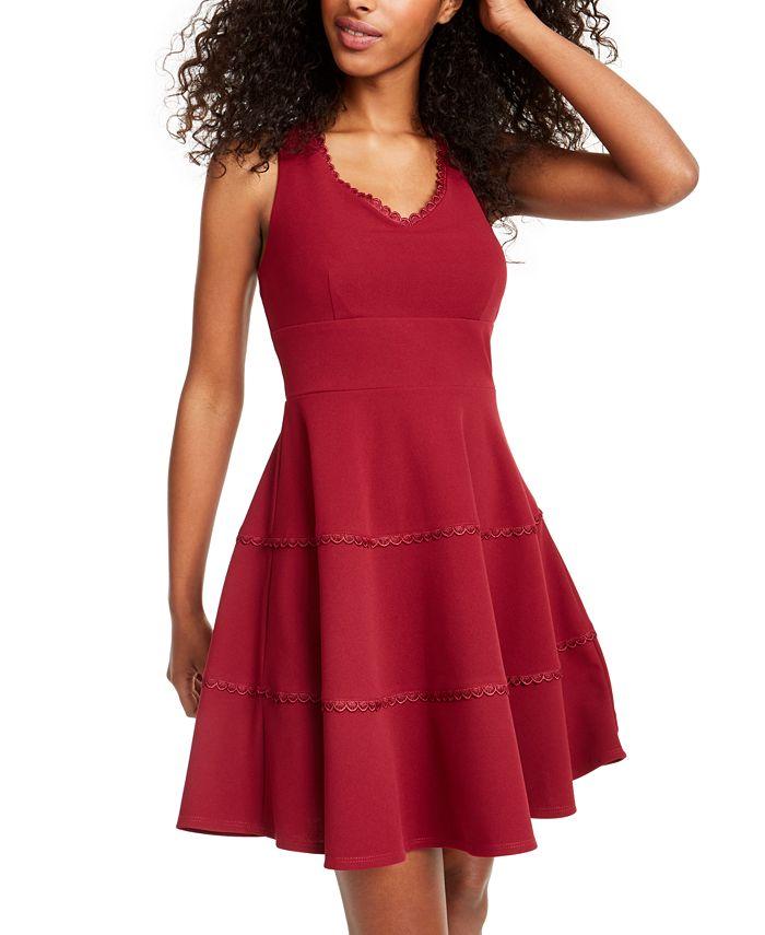 City Studios - Juniors' V-Neck Tiered Dress