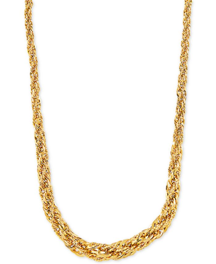 """Macy's - Graduated Rope Link 18"""" Chain Necklace in 14k Gold"""