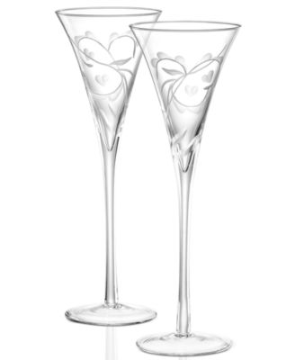 Marquis By Waterford Yours Truly Flutes Pair