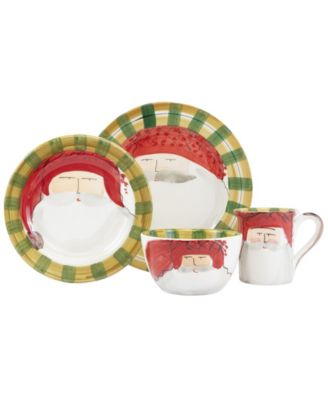Old St. Nick Red Hat 4-Piece Place Setting