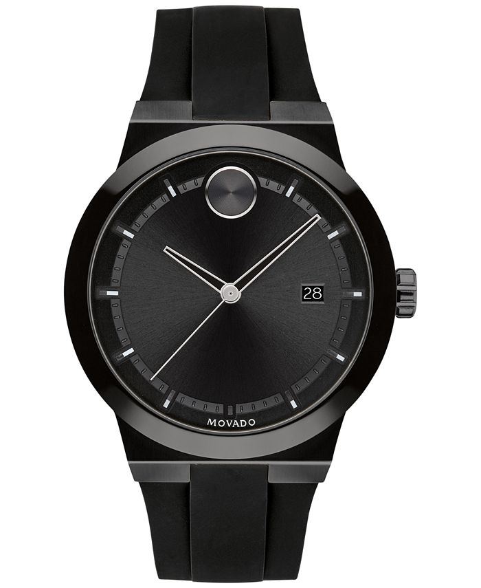Movado - Men's Swiss Bold Black Silicone Strap Watch 42mm